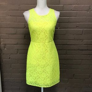 J. Crew. Neon Lace Sleeveless dress 2P